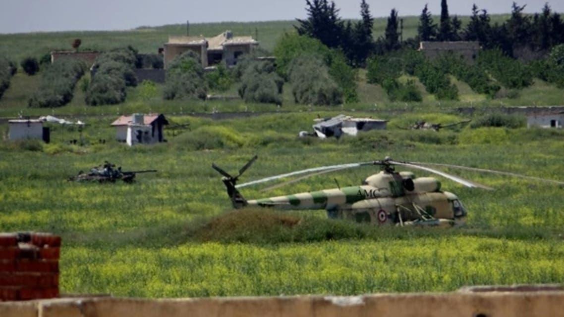 Menagh air base (Aleppo Media Center)