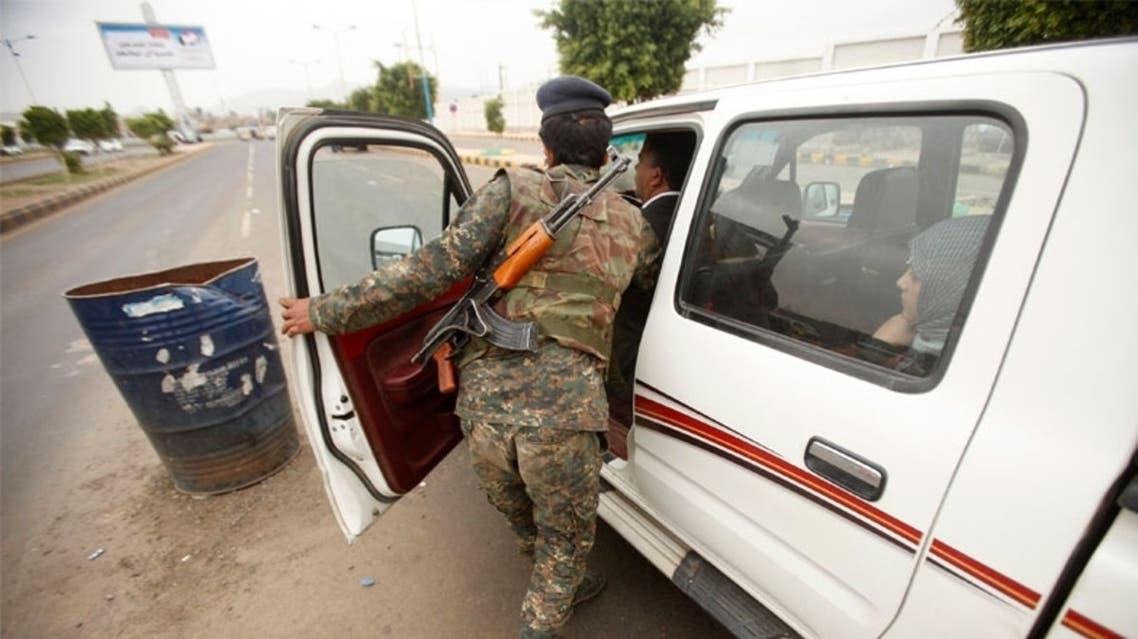 حاجز لقوات الأمن اليمني في صنعاء