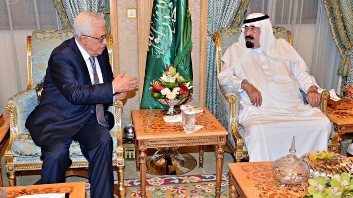 الملك عبدالله مجتمعاً مع الرئيس الفلسطيني محمود عباس