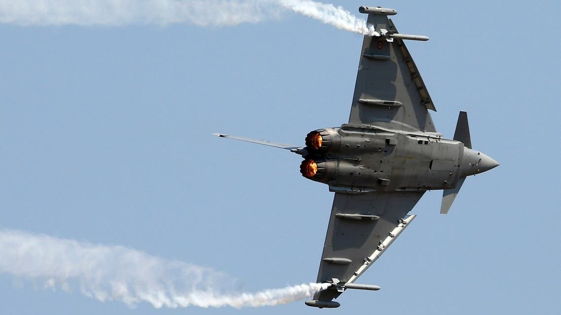 The Eurofighter combat jet is made by BAE Systems, Finmeccanica and EADS. (File photo: Reuters)