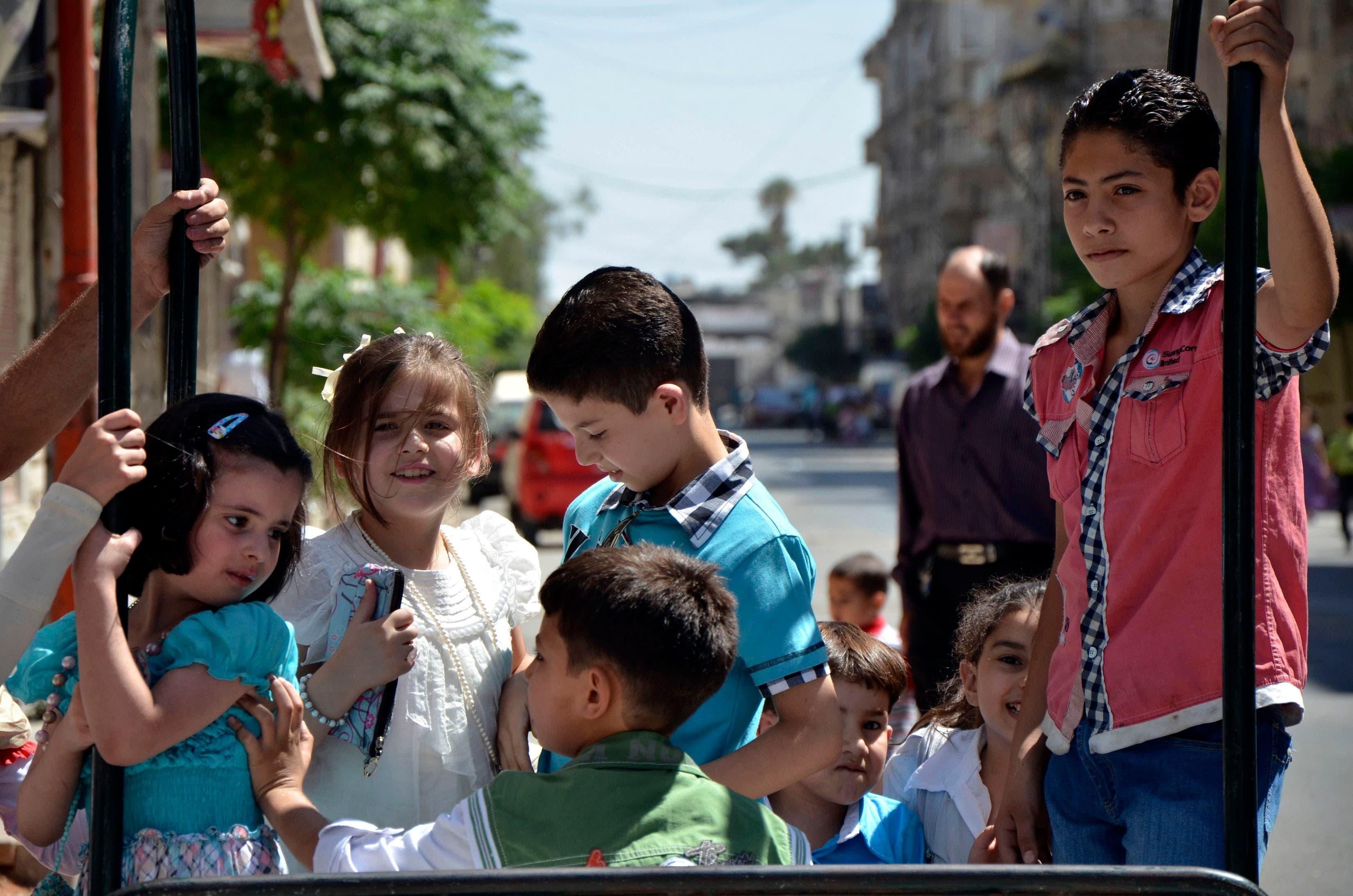 Muslim children celebrate Eid