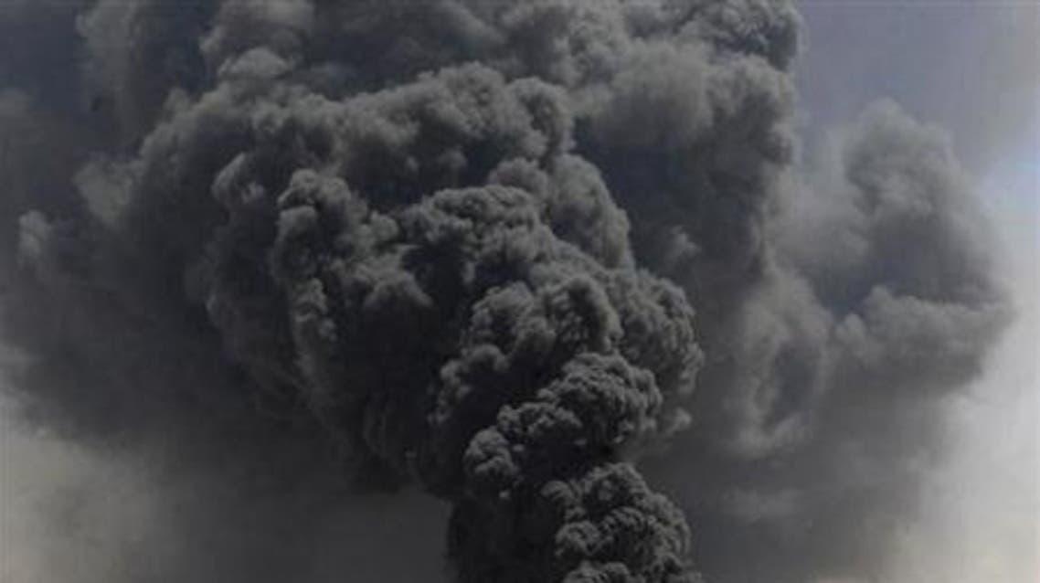 دخان لانفجار