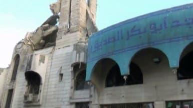 قوات الأسد تدمر الجامع الكبير في القابون بريف دمشق