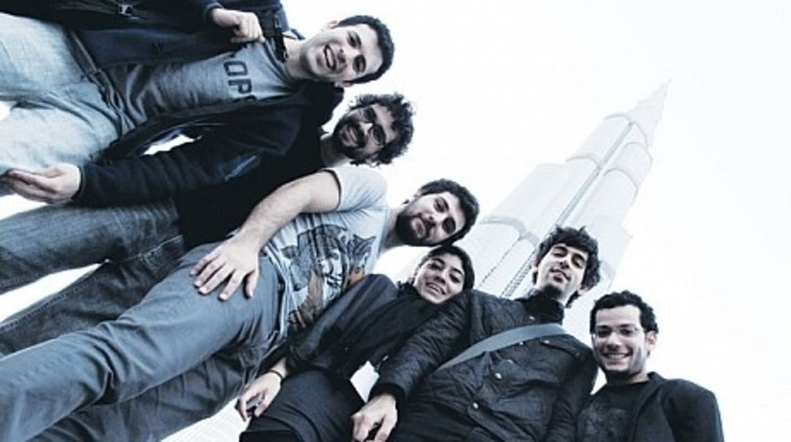 A picture showing the band at Dubai's iconic Burj Khalifa. (Photo courtesy: Time Out Dubai)