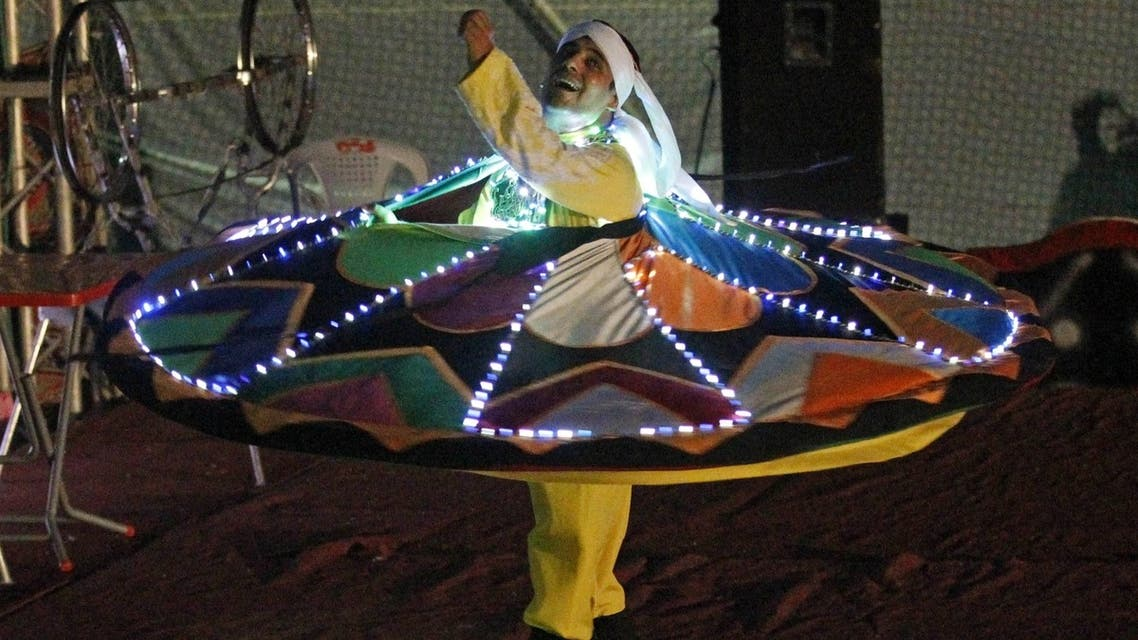 Egyptian circus performs in Gaza