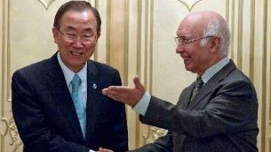 بان کی مون اور مشیر خارجہ