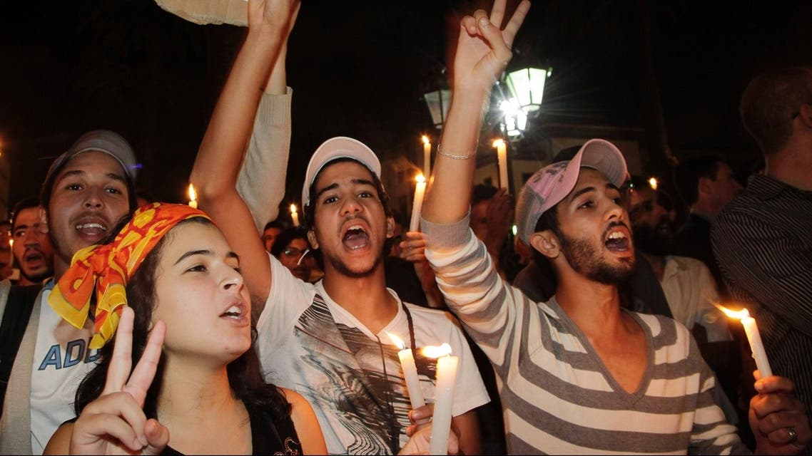 Morocco protests Rabat Aug 7 Reuters