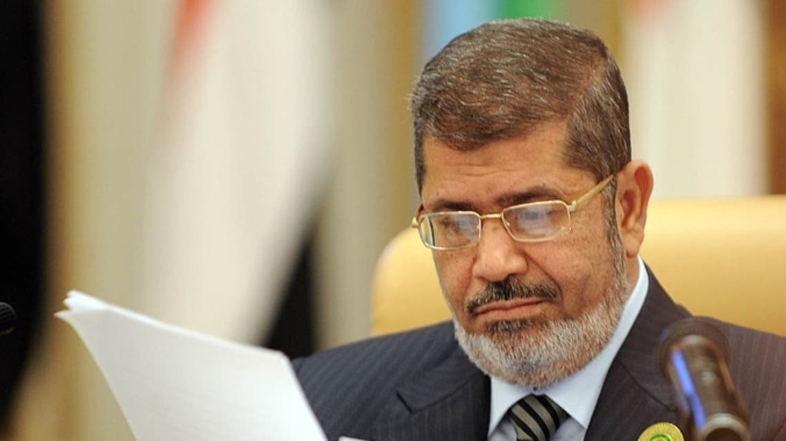 Mursi, who was overthrown by the army on July 3, is being held at an undisclosed location on allegations of murder and spying. (File photo: AFP)