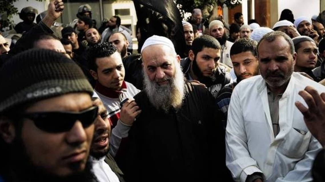 Mohammed Zawahiri, center, the brother of Al Qaeda leader Ayman Zawahiri, takes part in a Cairo demonstration in January. (Gianluigi Guercia, AFP/Getty Images)