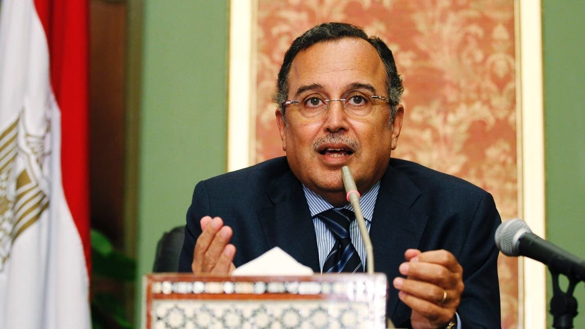 Egypt's Foreign Minister Nabil Fahmy speaks during a news conference in Cairo August 18, 2013. (Reuters)