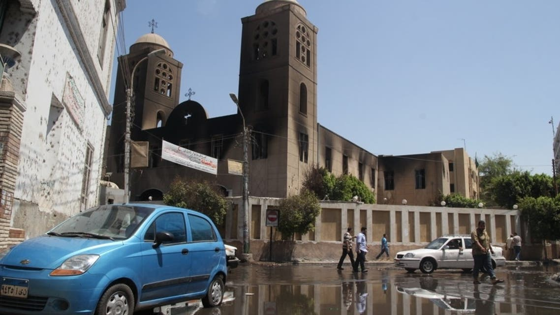 The damaged Prince Tadros Church August 15 (Reuters)