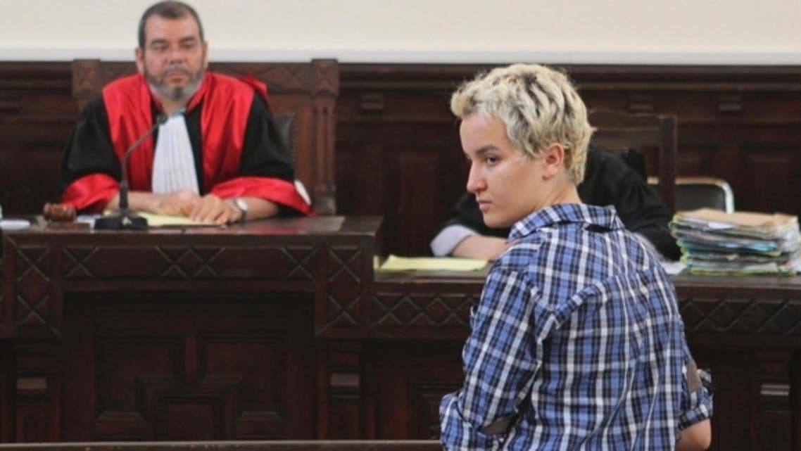 Amina Sboui appears in a courtroom in Sousse, July 4, 2013.  (Reuters)