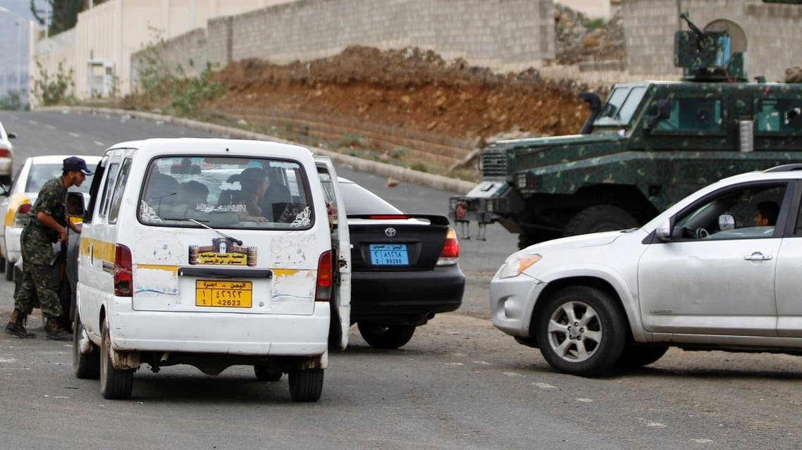 A policeman checks a car at a checkpoint at one of the entrances to the U.S. embassy in Sana'a, Yemen. (File Photo: Reuters)
