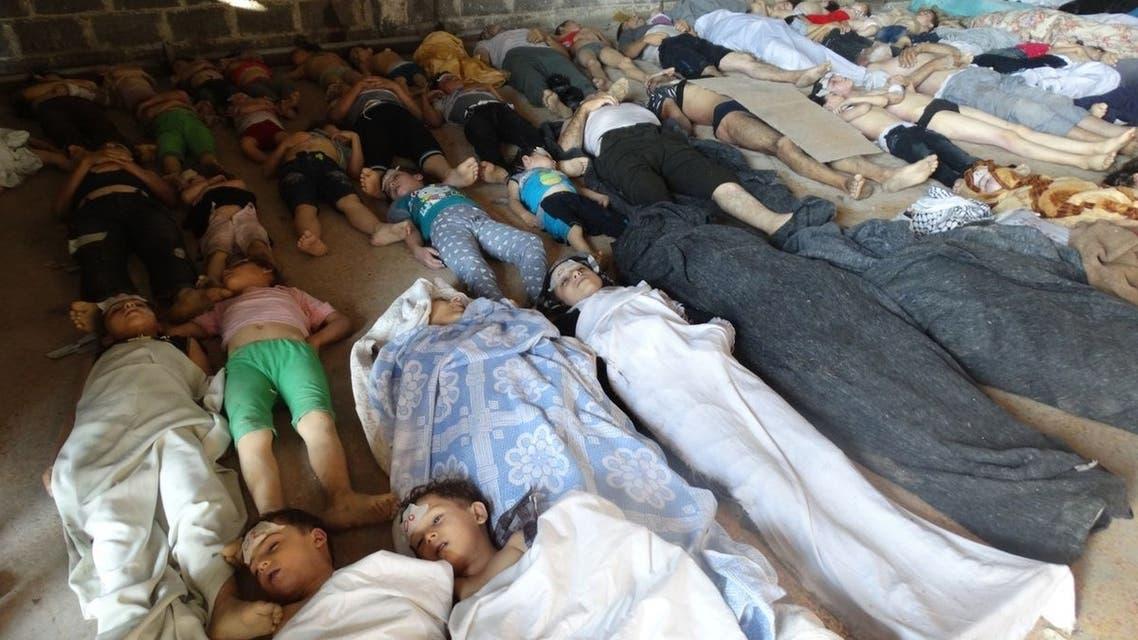 ضحايا الكيماوي في الغوطة في سوريا
