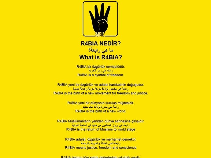Four Finger Salute Egypt Rivals Use Rabaa Hand To Turn Facebook