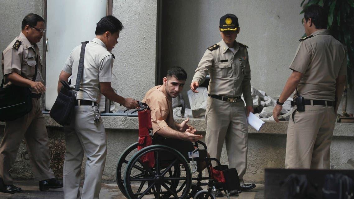 Iranian Saeid Moradi at Bangkok South Criminal Court (File Photo: Reuters)