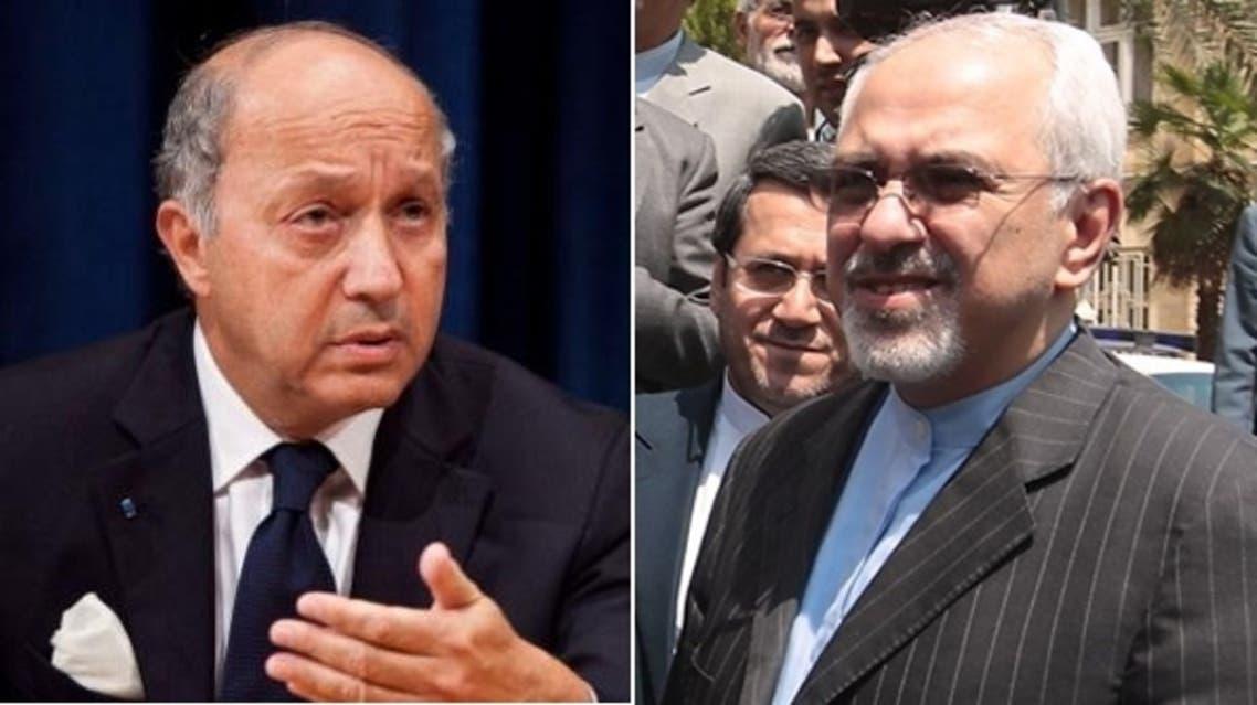 محمد جواد ظريف ولوران فابيوس