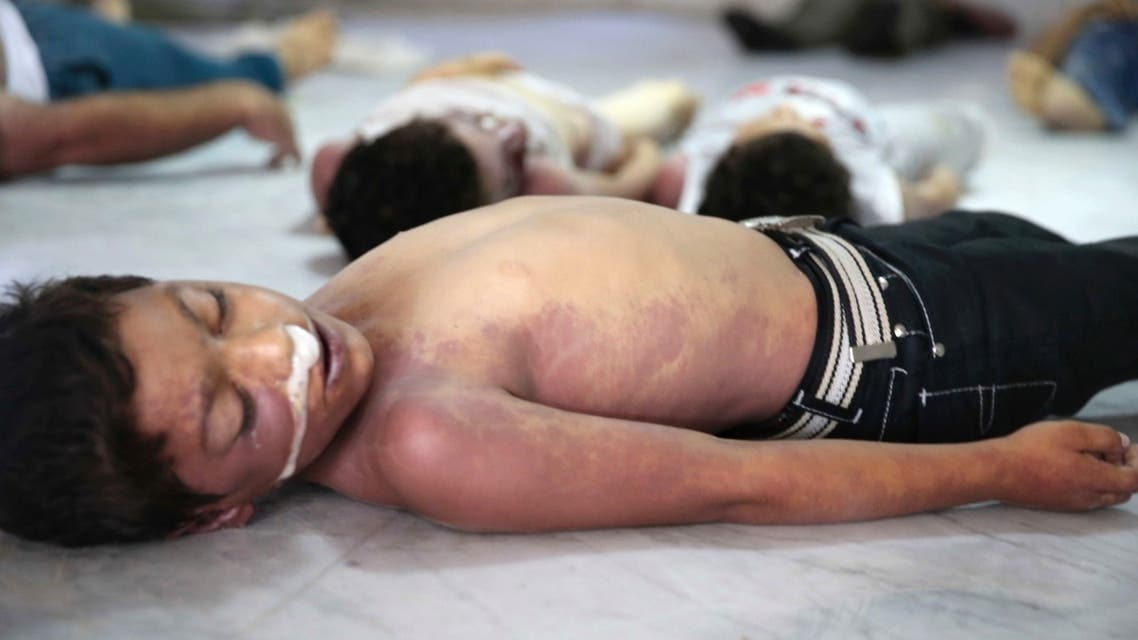 """Bodies of children whom activists say were killed by gas attack in the Ghouta area, in the eastern suburbs of Damascus August 21, 2013. (Reuters)"