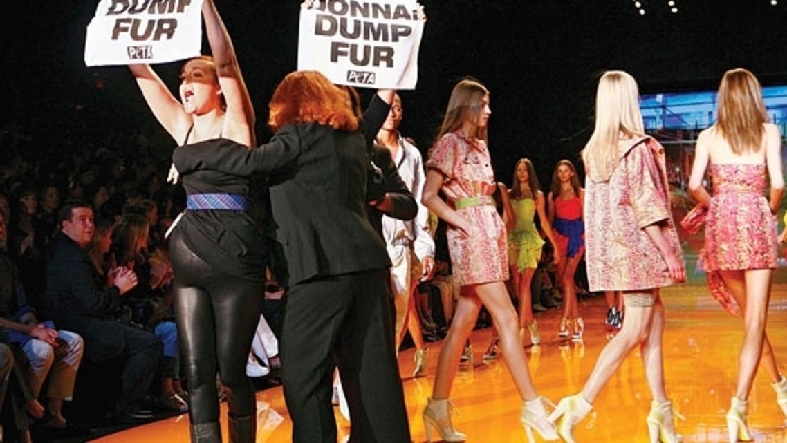 Pictured is a PETA demonstration against the wearing of fur. (File photo: Reuters)