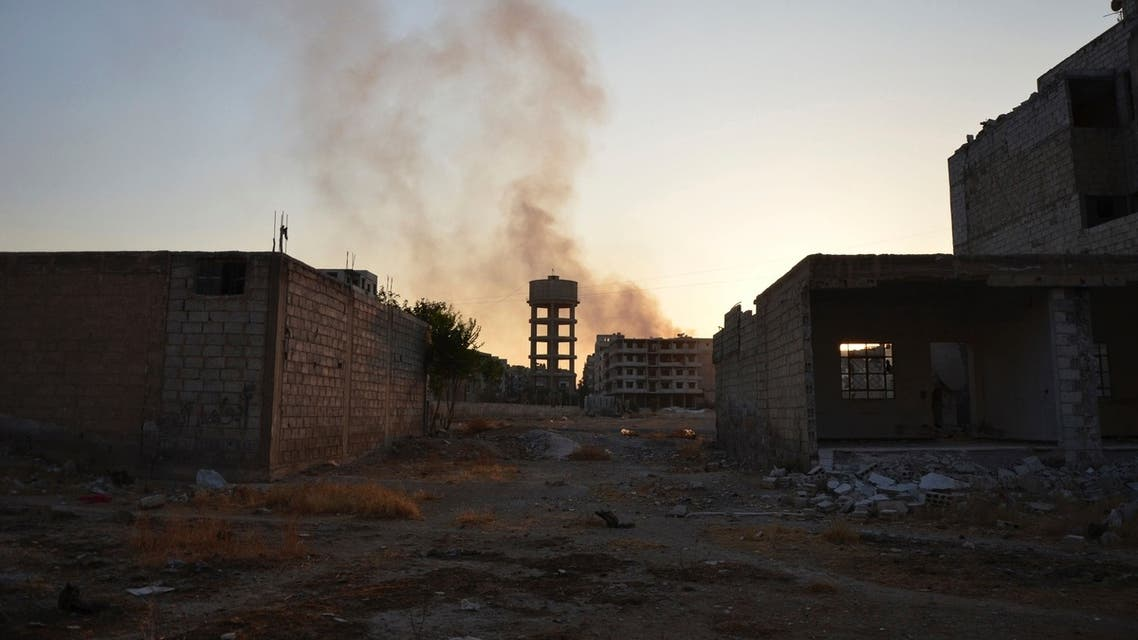 A view of Zamalka area, in what activists say chemical weapons have been used by forces loyal to President Bashar Al-Assad in the eastern suburbs of Damascus August 22, 2013. (Reuters)