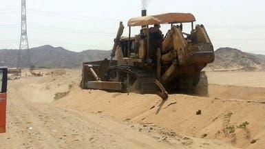 إزالة تعديات على الأراضي الحكومية في مكة المكرمة