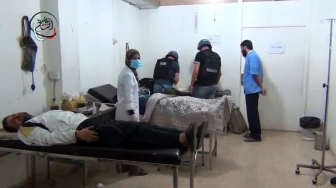 Chemical inspectors in Syria