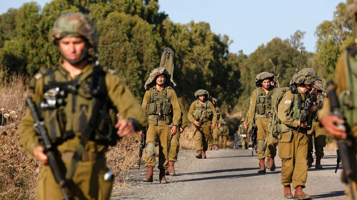 Israeli soldiers take part in a drill in the Israeli-occupied Golan Heights, August 28, 2013. (Reuters)
