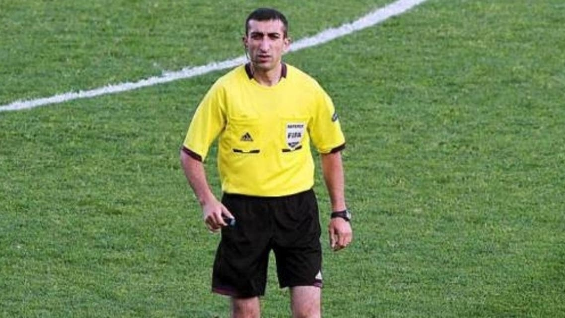 Referee Andranik Arsenyan who officiated in the match between FC Inter Turku and Vikingur was suspended for life. (Photo courtesy: 101greatgoals)