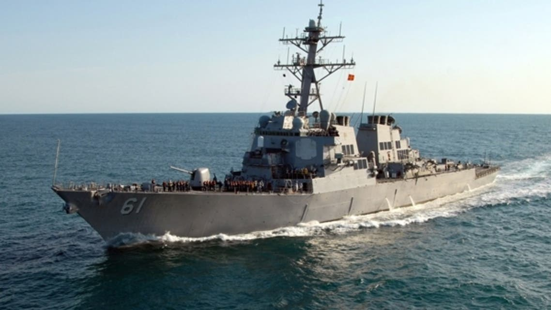 """US destroyers, including the USS Ramage are currently deployed in the Mediterranean as part of a range of """"options"""" for US President if he chooses to launch a military action against Syria. (AFP)"""