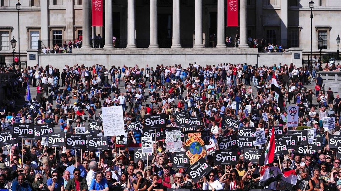 'Hands off Syria' shouts London