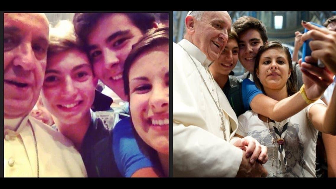 selfie pope