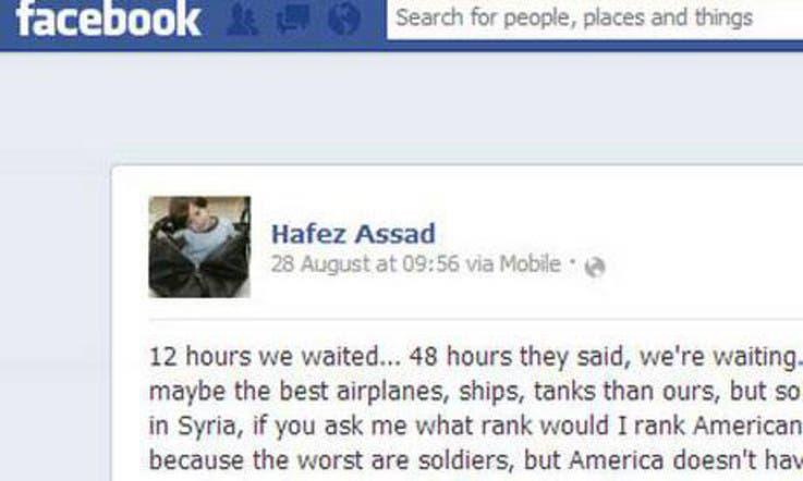 Hoax or not, 'Assad son' Facebook outburst brews media storm