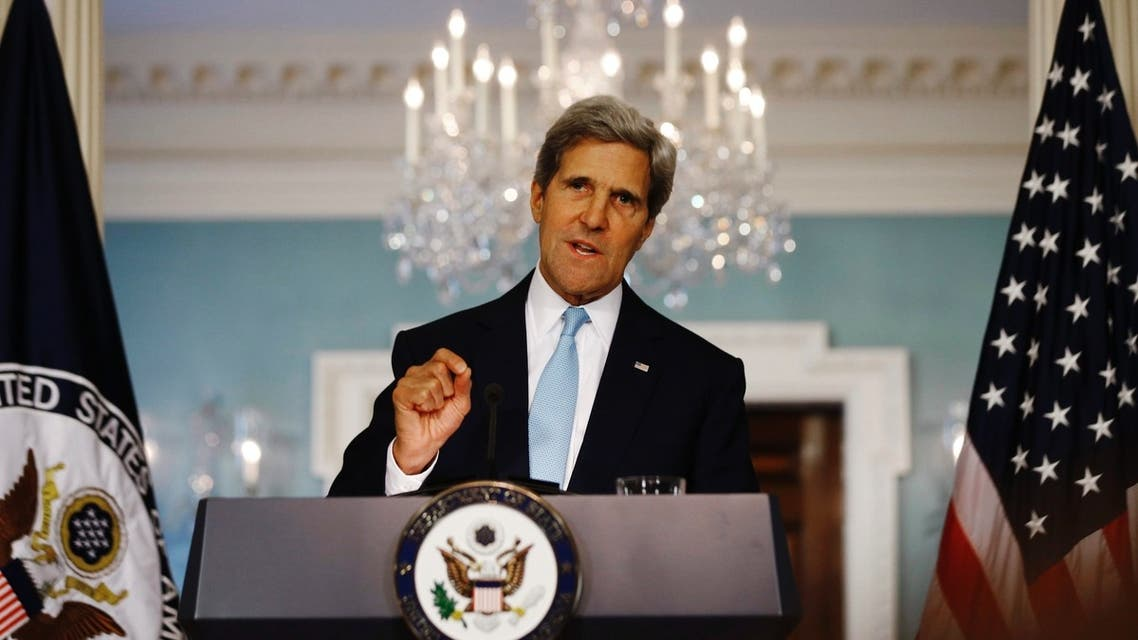 U.S. Secretary of State John Kerry speaks about the situation in Syria at the State Department in Washington, August 30, 2013. (Reuters)
