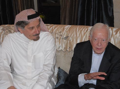 He has met with numerous politicians during his career, including former U.S. President Jimmy Carter. (Photo courtesy: Khaled Almaeena)
