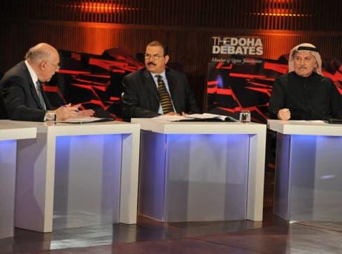 Almaeena during a Doha Debates panel in 2011. (Photo courtesy: Khaled Almaeena)