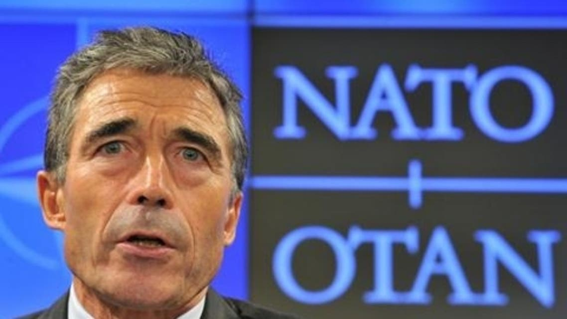 NATO Secretary General Anders Fogh Rasmussen gives a monthly press conference at the Residence Palace in Brussels on October 1, 2012. (File photo: AFP)