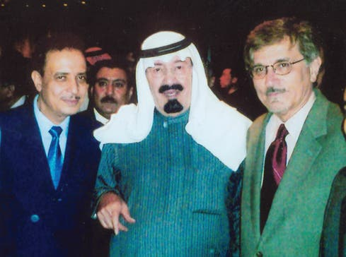 Almaeena pictured with the Saudi King during a visit to China. (Photo courtesy: Khaled Almaeena)