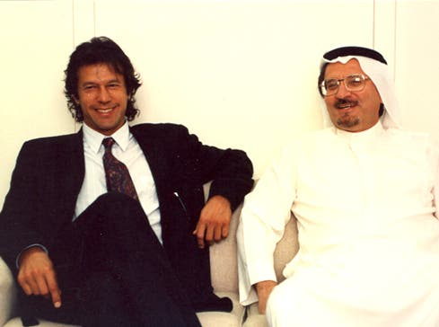 Pictured with Pakistani politician and former cricketer Imran Khan. (Photo courtesy: Khaled Almaeena)