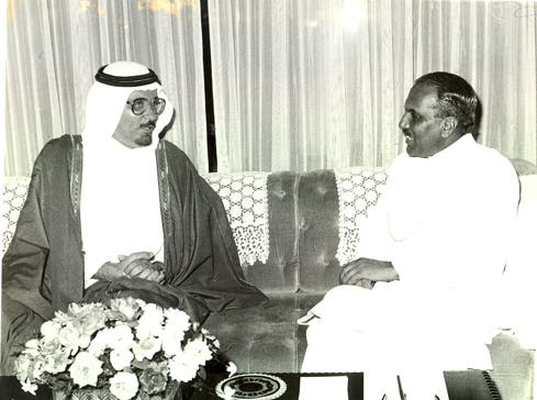 Almaeena has forged strong ties with Pakistan. He is pictured here meeting the late former President Mohammad Zia-ul-Haq. (Photo courtesy: Khaled Almaeena)