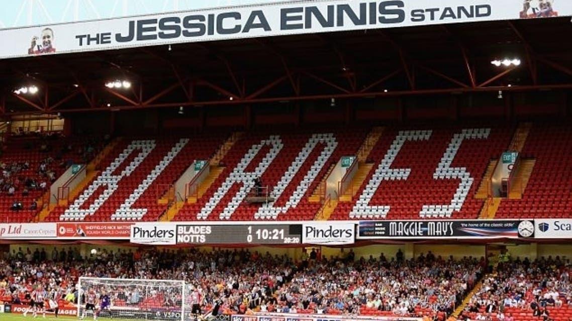 The 'Jessica Ennis' Stand at Bramall Lane