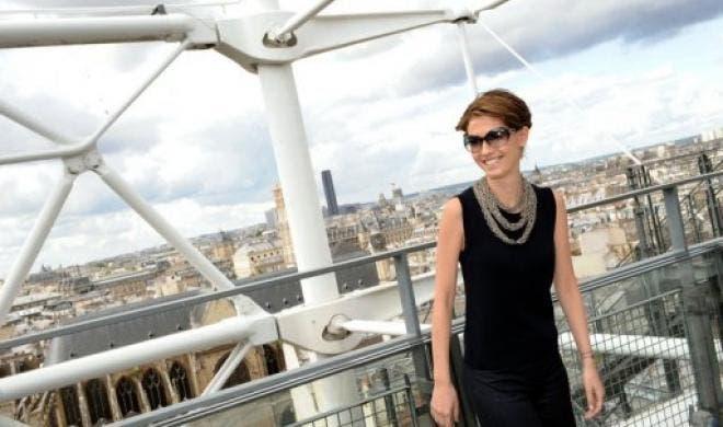 Asma al-Assad visits the Pompidou Center in Paris in 2008. (File Photo: AFP)