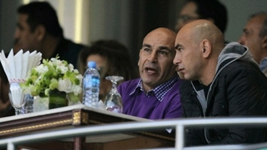 Hossam Hassan and his twin brother, former football director Ibrahim Hassan, Ahram