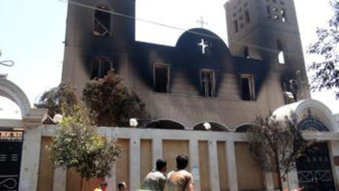 كنيسة محترقة بمصر