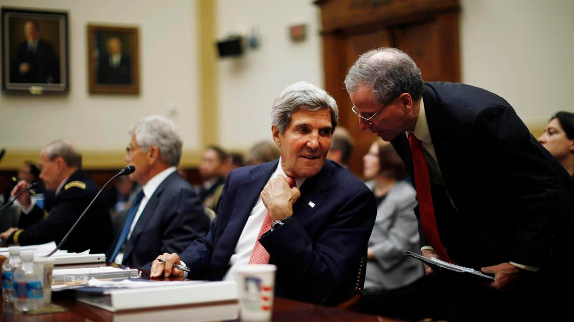 U.S. Secretary of State John Kerry testifies at a U.S. House Foreign Affairs Committee hearing on Syria on Capitol Hill. (Reuters)
