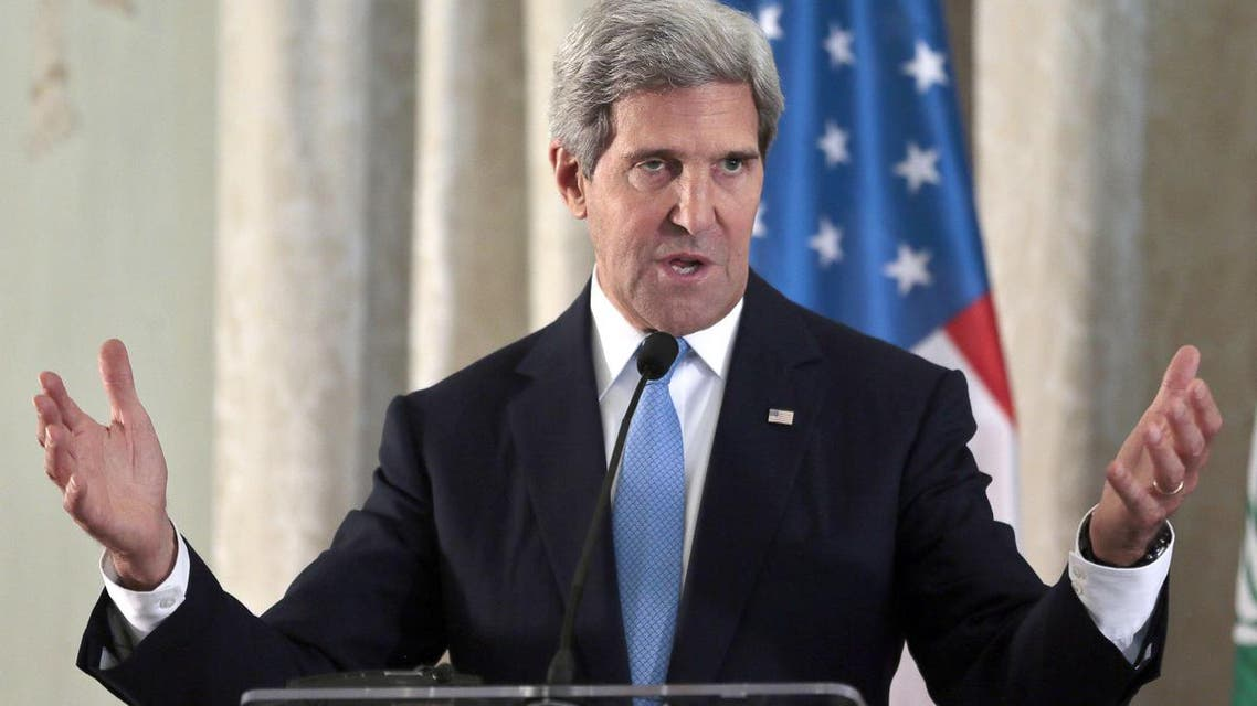 U.S. Secretary of State John Kerry answers a question during a press conference at the United States Embassy in Paris, on September 8, 2013. (AFP)