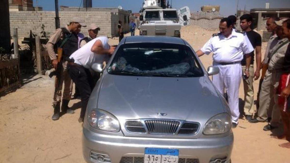 جانب من الحملة الأمنية في سيناء