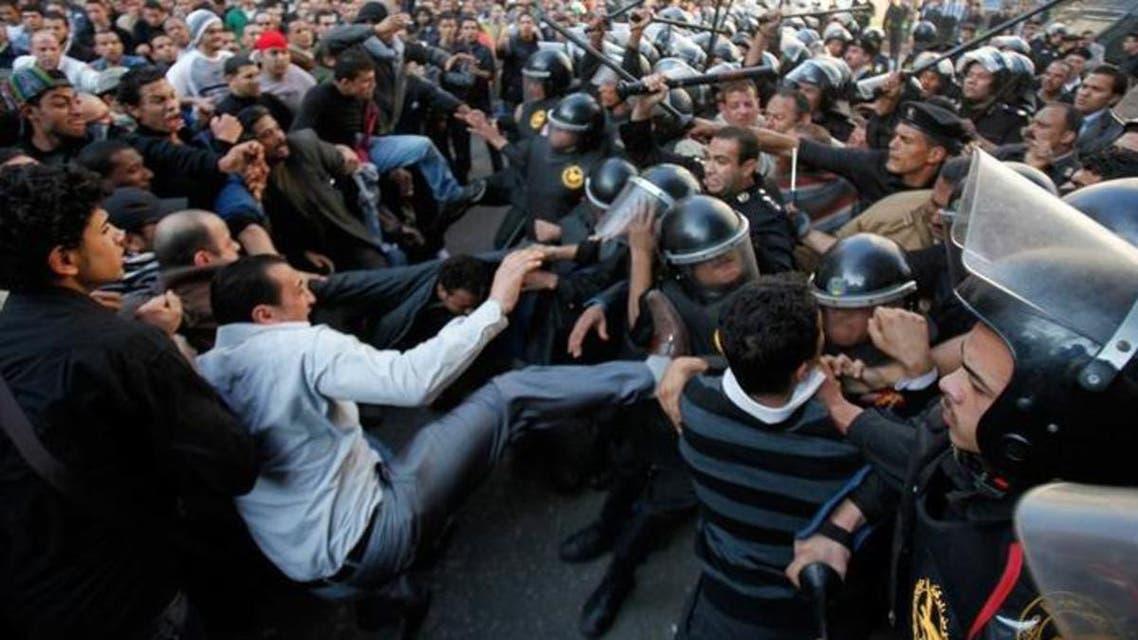 جانب من احداث ثورة 25 يناير