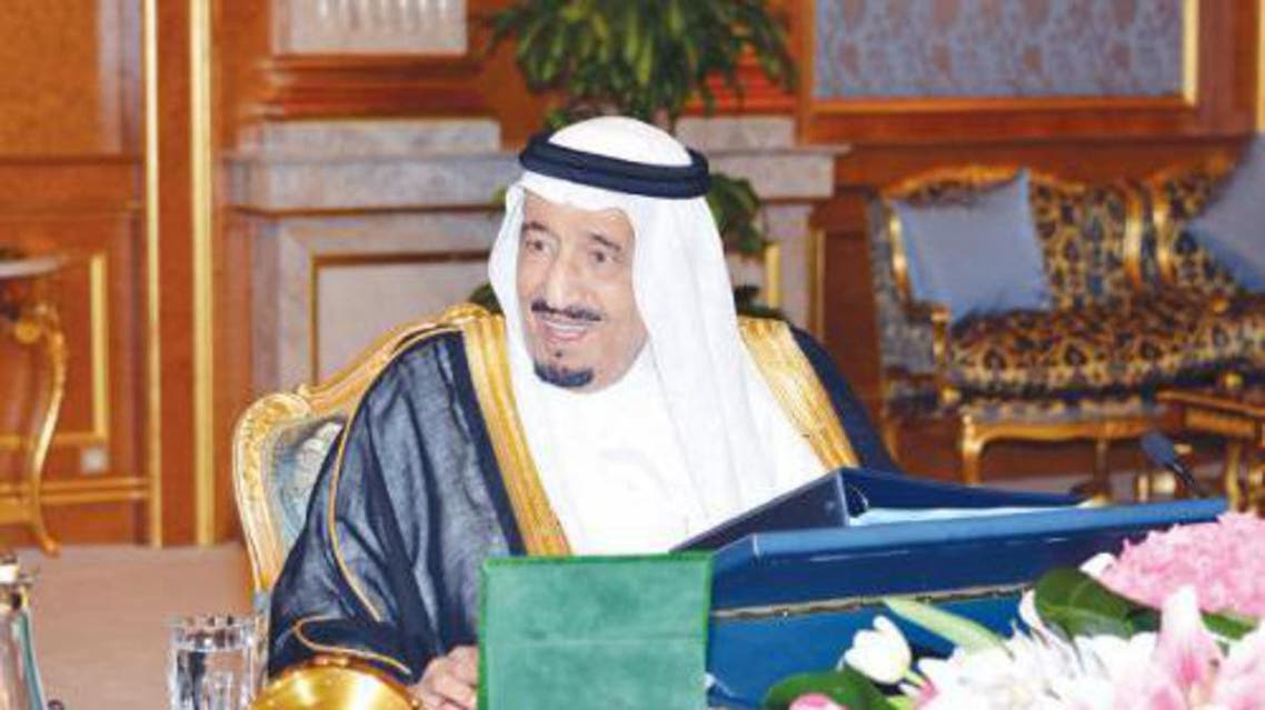 Crown Prince Salman Bin Abdul Aziz, Deputy Premier and Minister of Defense, chairs the Council of Ministers session which approved a number of landmark decisions in Jeddah on Monday. (SPA)