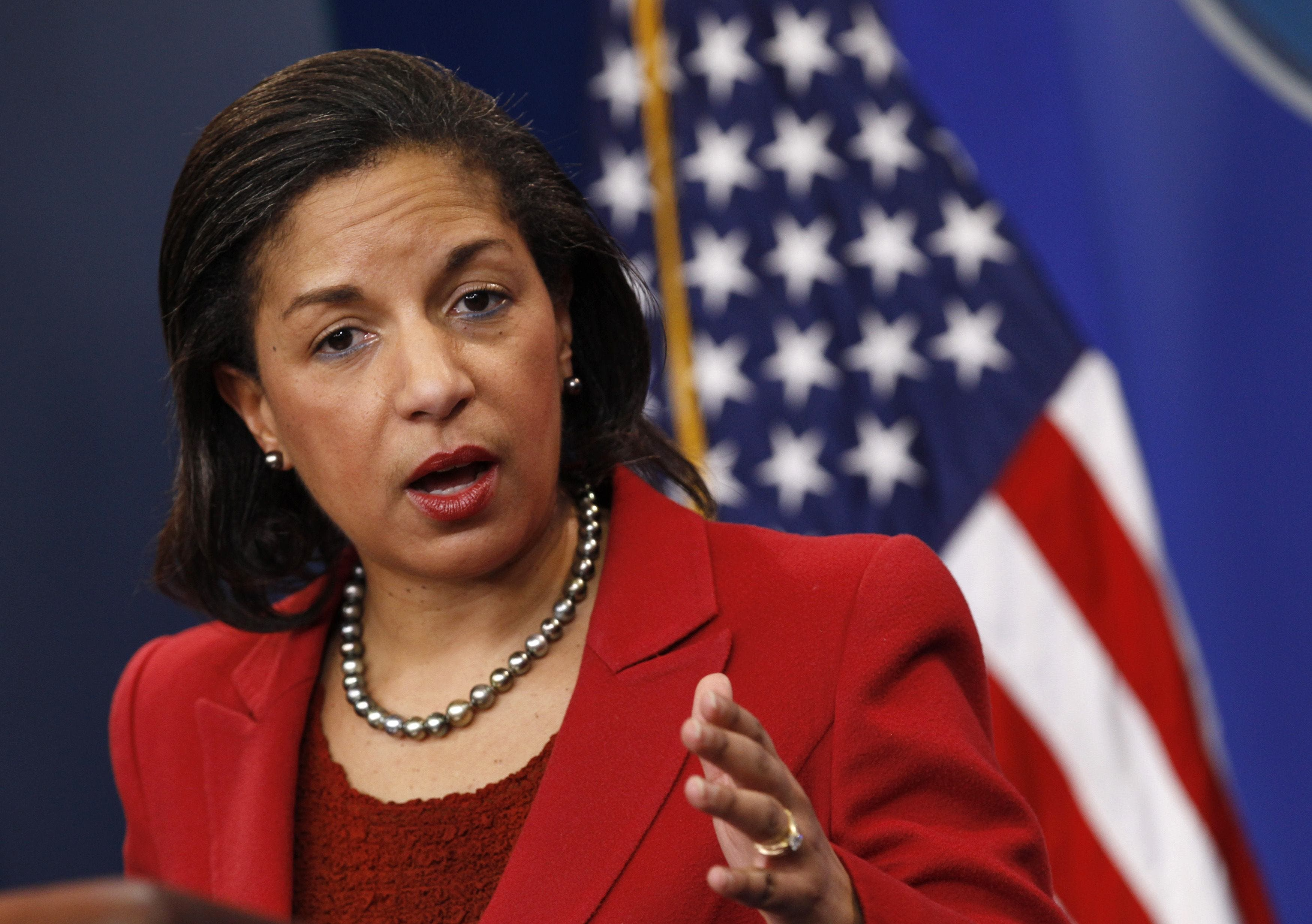 Former National Security Advisor and US ambassador to the United Nations Susan Rice. (AFP)