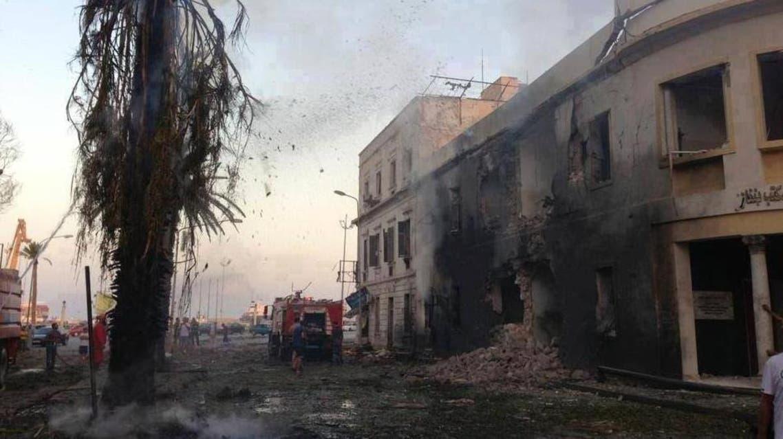 انفجار في بنغازي ليبيا